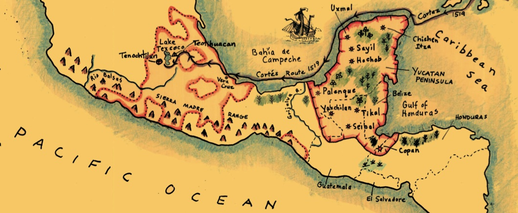 Maya/Aztec/Inca Map - Maps for the Classroom