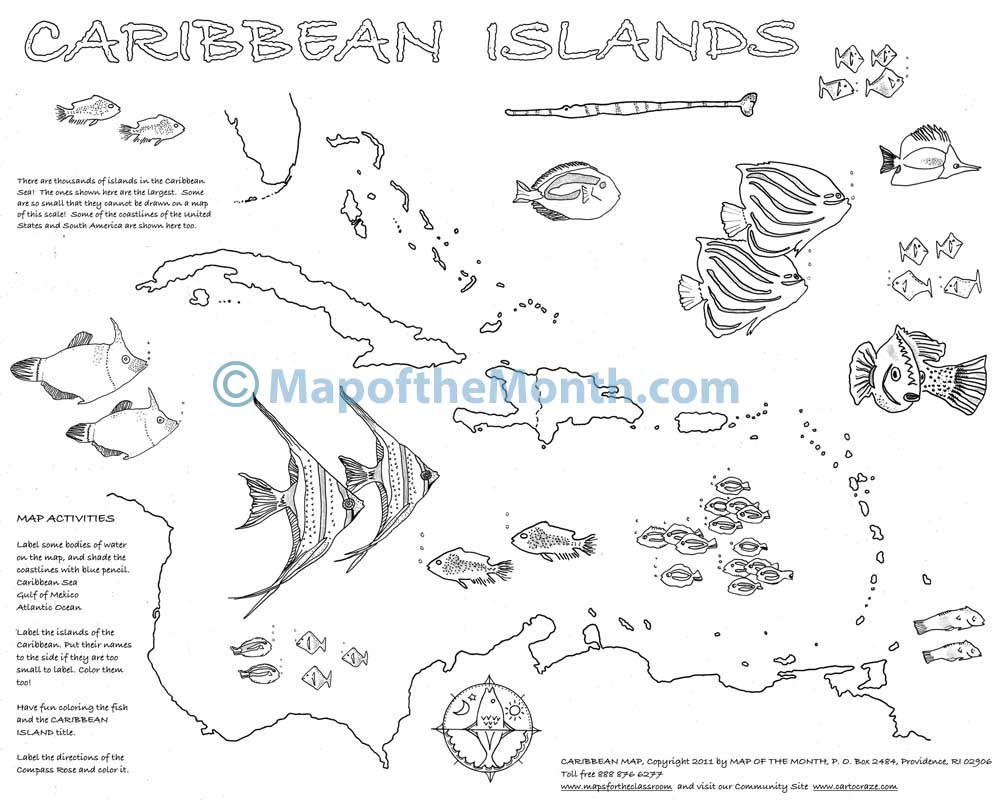coloring pages caribbean islands - photo#6