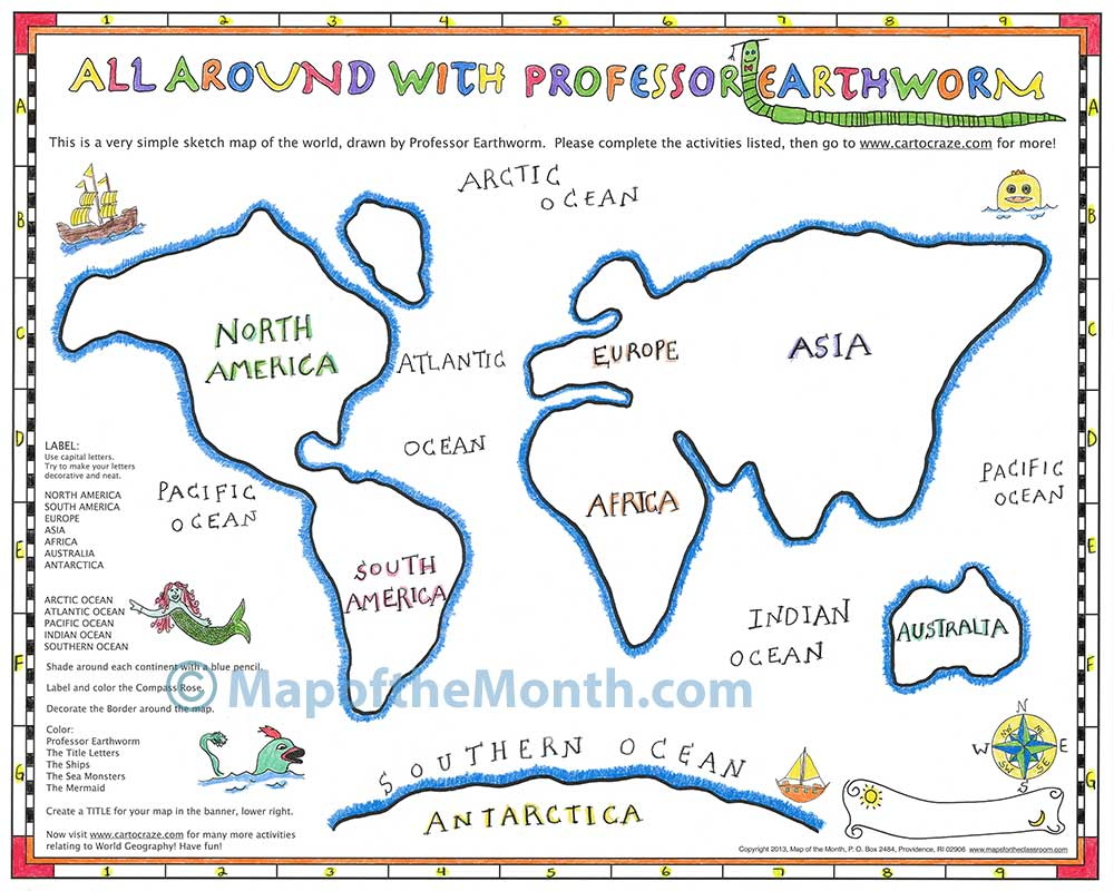 Why another world map introducing all around with professor earthworm