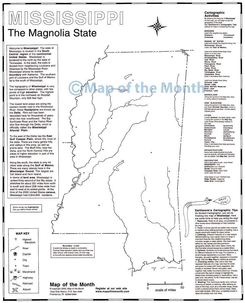 Mississippi Map Maps For The Classroom - Missisippi map