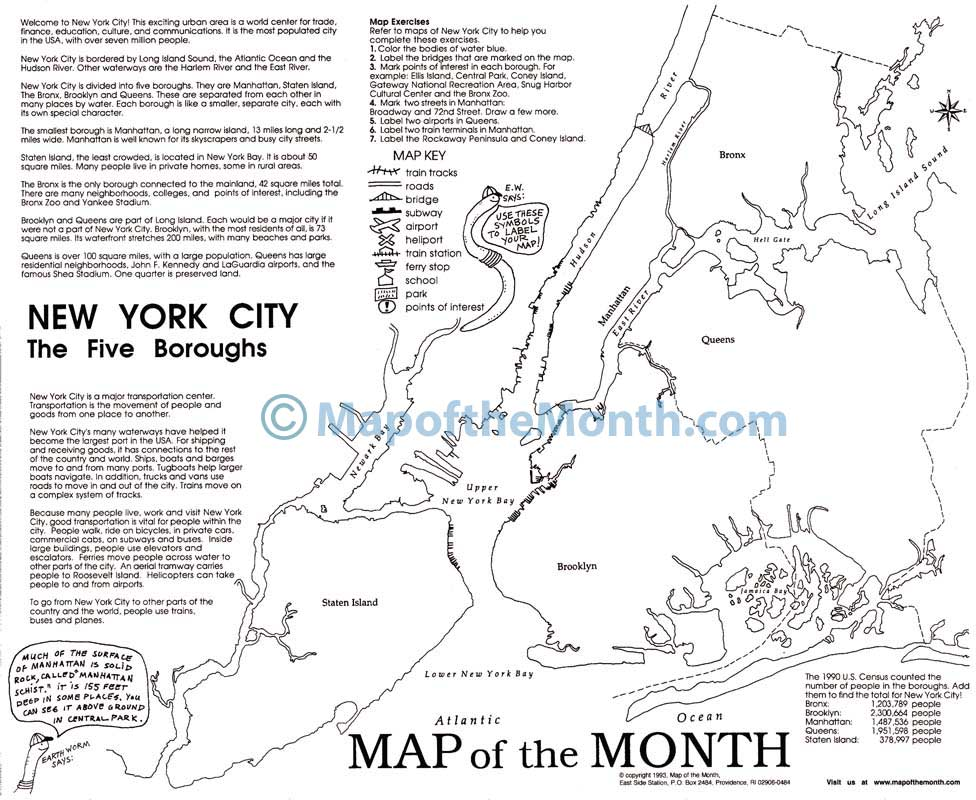 New York City Ny Map Maps For The Classroom