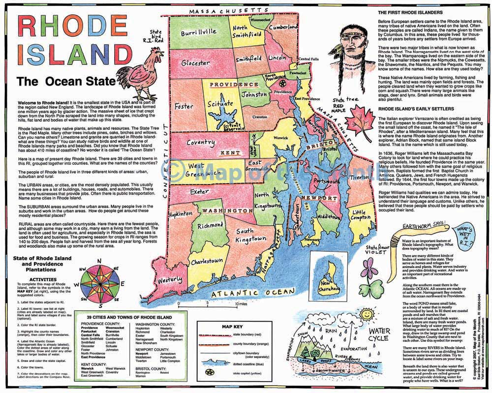 Rhode Island Map Maps For The Classroom - Usa map rhode island