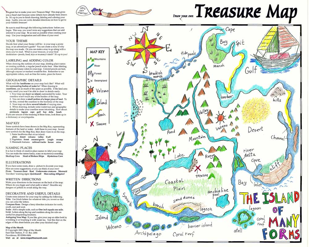 Treasure Map Maps For The Classroom