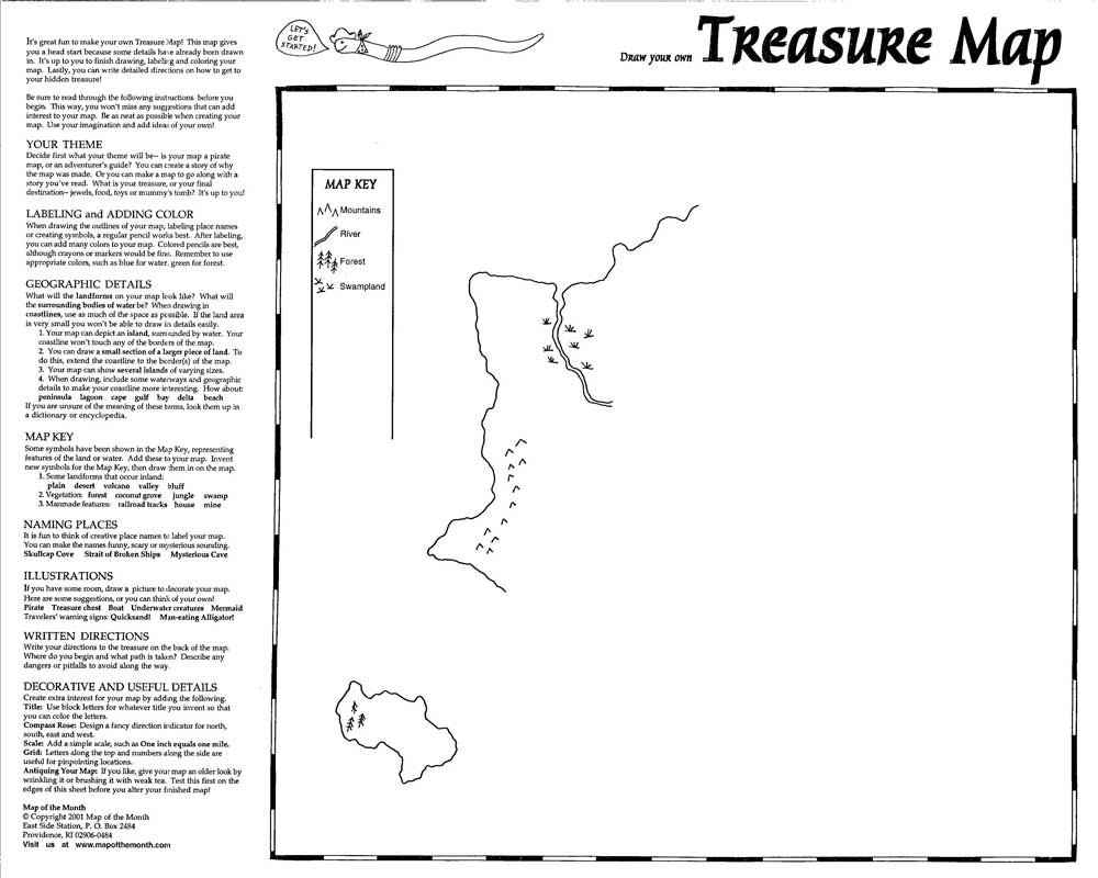 Treasure Map Maps For The Classroom - Create Your Own Us Map