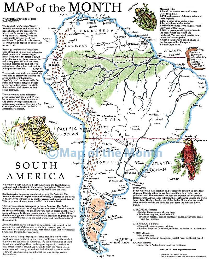 South America Map  Maps for the Classroom