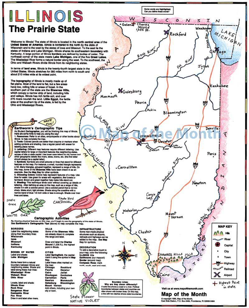 Illinois Map Maps For The Classroom - Illonois map