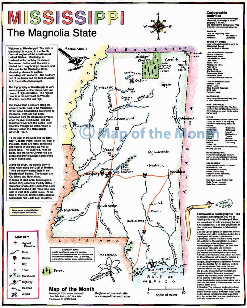 Mississippi Map Maps For The Classroom - Mississippi city map