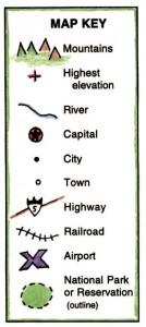 State Map Key
