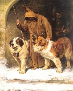 St._Bernards_-_To_The_Rescue_by_John_Emms_(artist)
