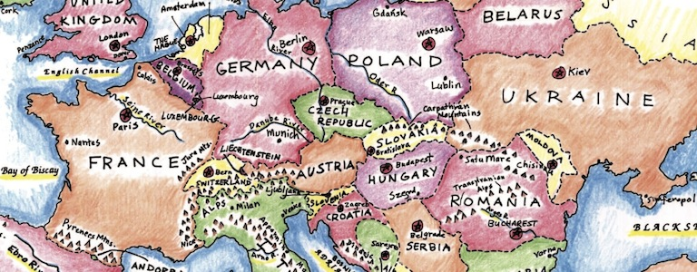 Colored Europe for blog