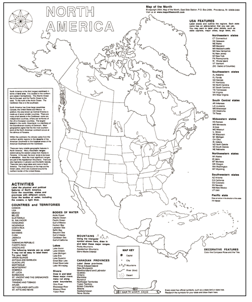 This Months New MAP CHALLENGE North America Maps For The - North america map black and white