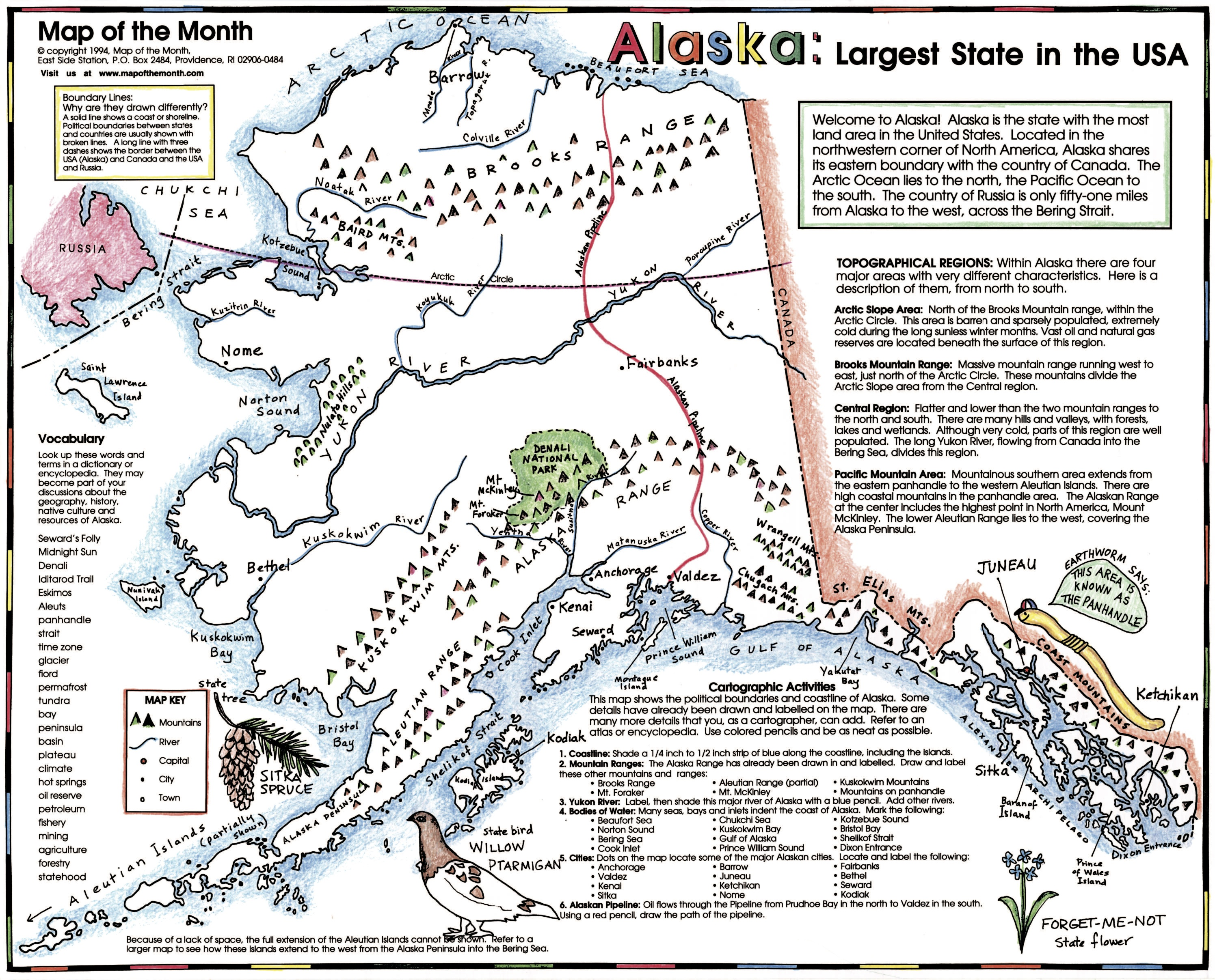 Alaskas Yukon River Maps For The Classroom - Map of alaska and canada