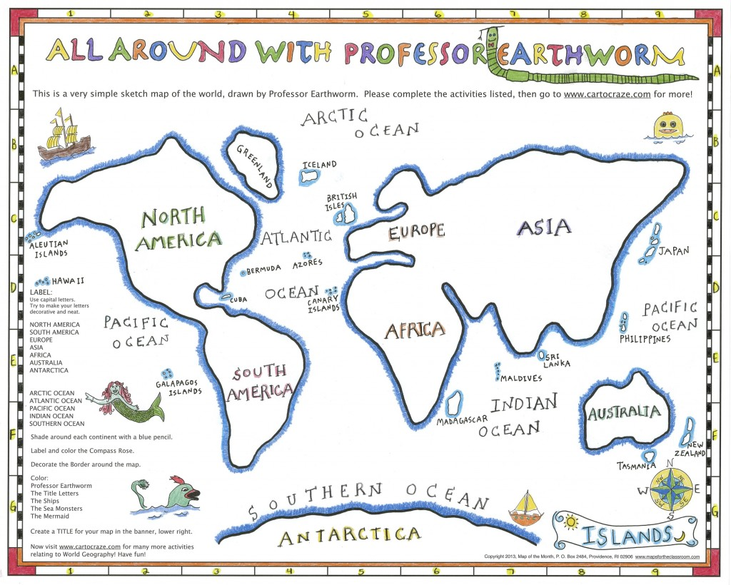 """Geography With A Simple """"Sketch Map"""""""