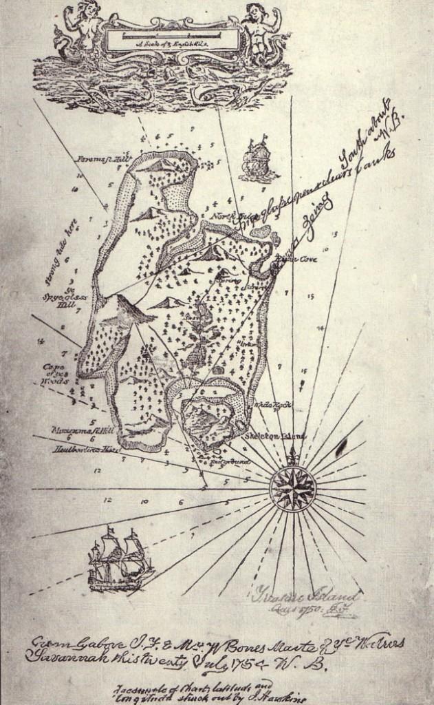 Treasure Island Novel Map