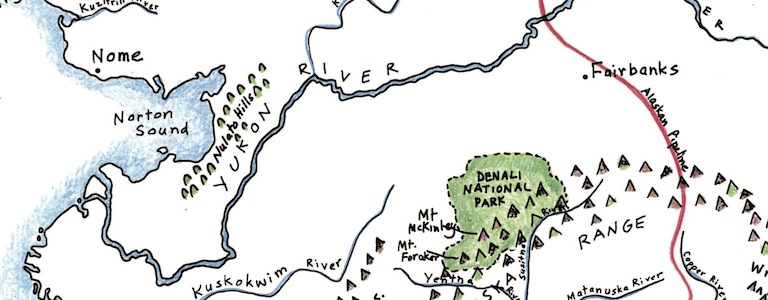 Alaskas yukon river maps for the classroom alaskas yukon river gumiabroncs Image collections