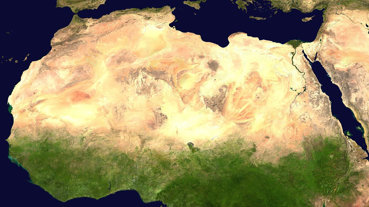 Deserts of the World Sahara  Maps for the Classroom