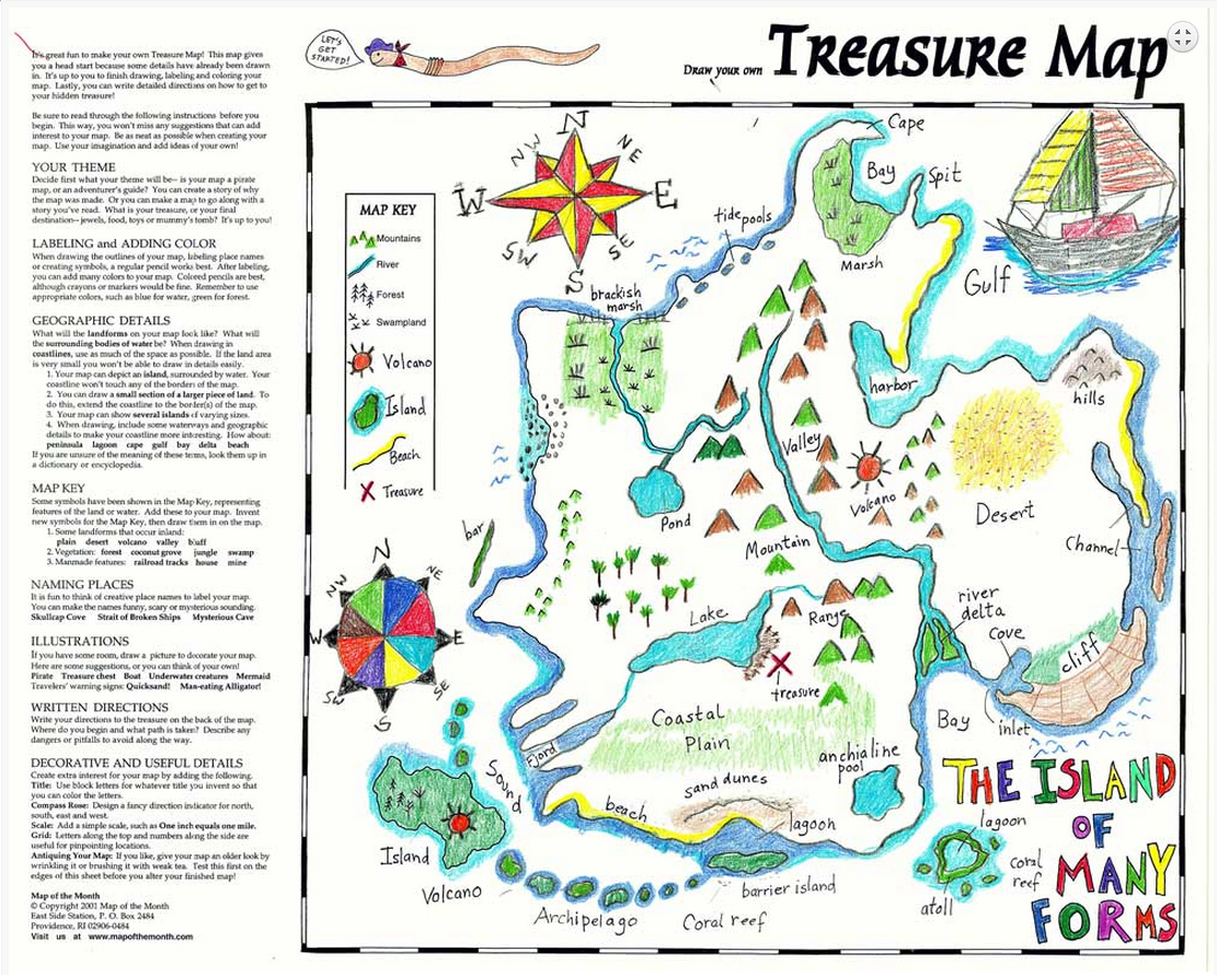 treasure map in your classroom maps for the classroom