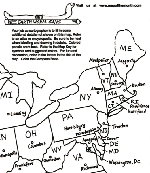 Classroom Maps Students As Cartographers Maps For The Classroom - 2016 us map color