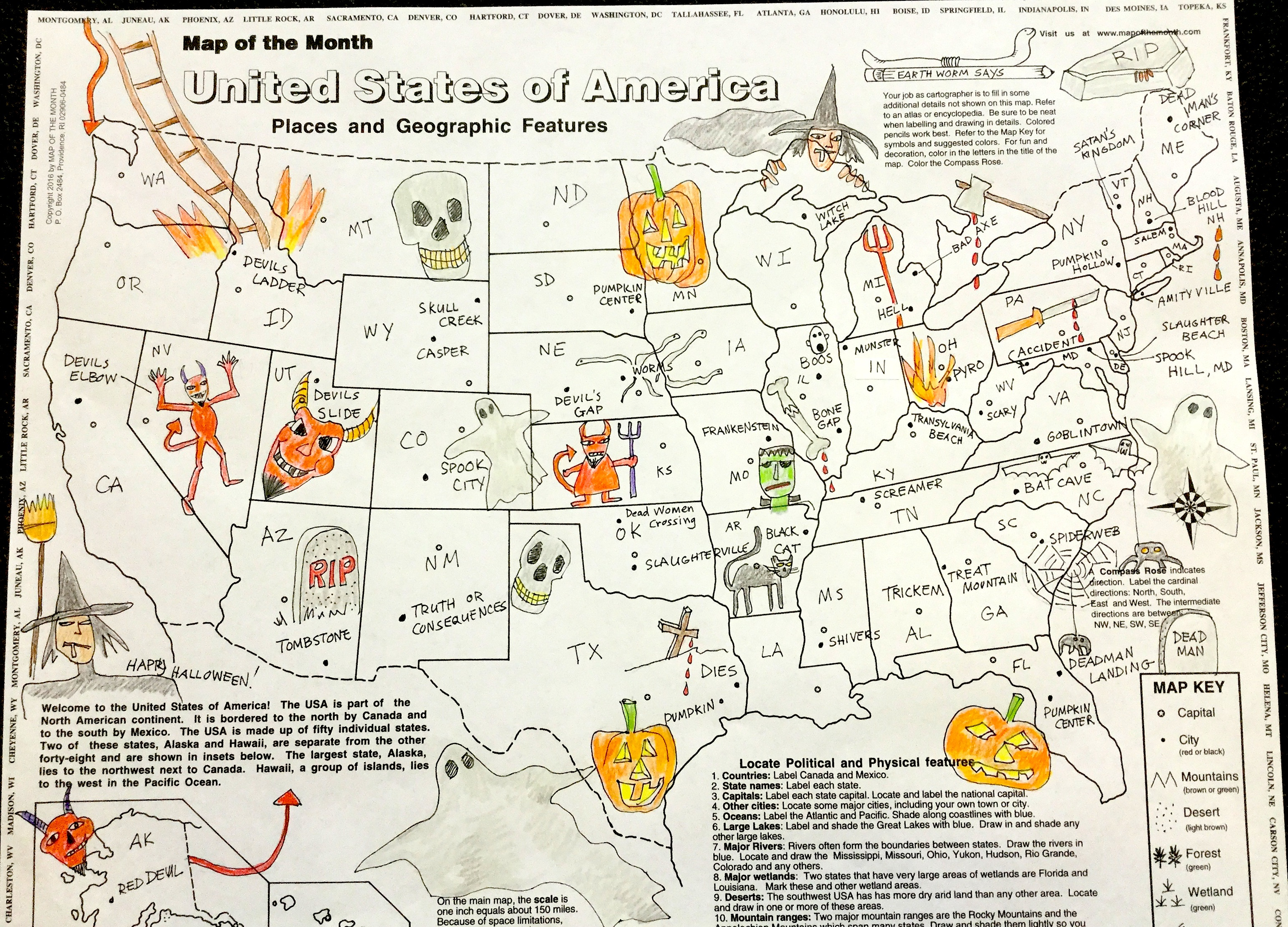 spooky classroom mapping for halloween! - maps for the classroom