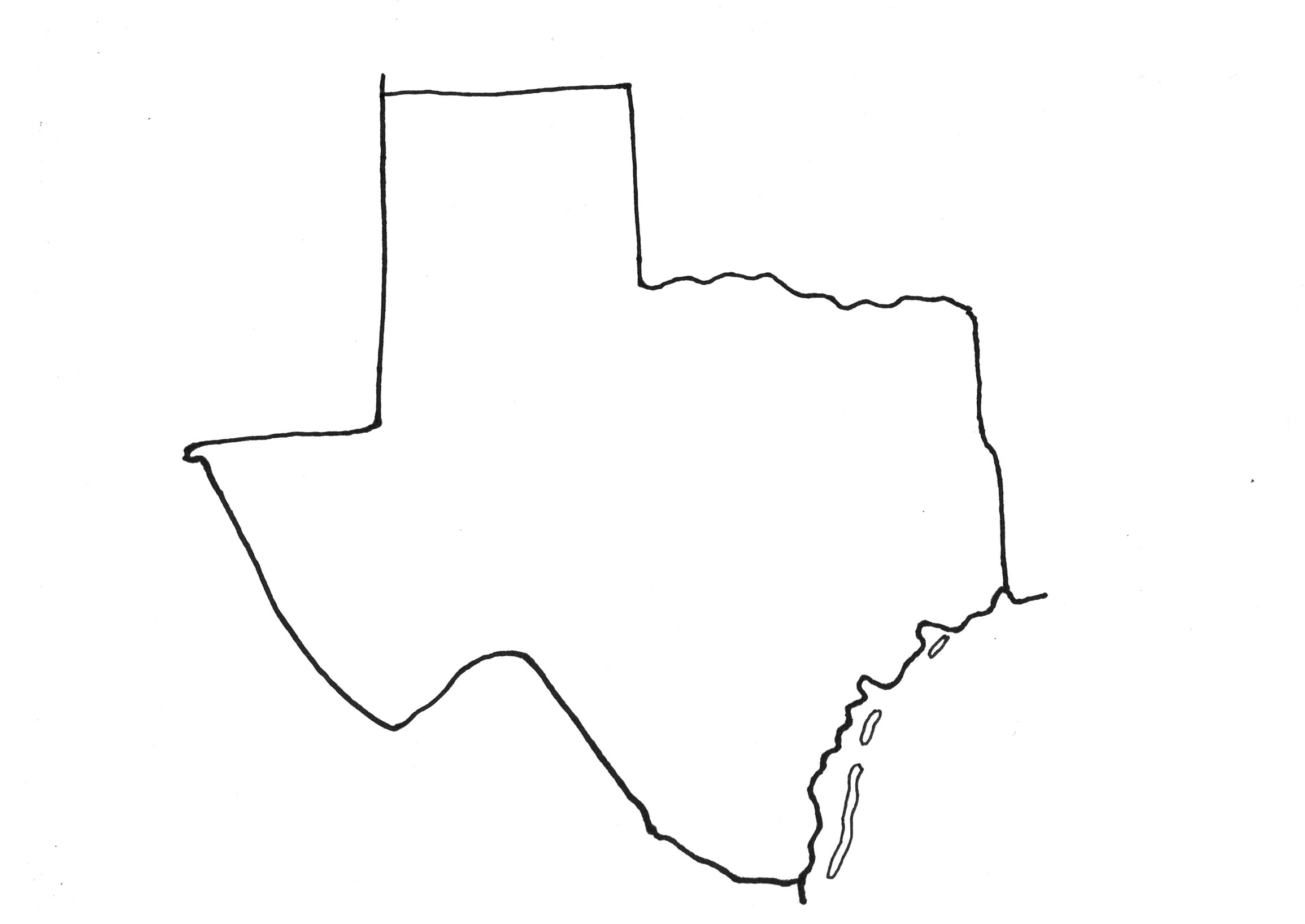 More Fun With A Sketch Map Of Texas Maps For The Classroom