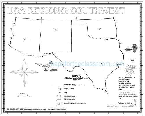 USA Regions: Southwest