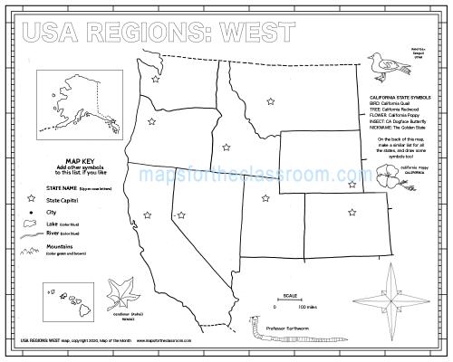 USA Regions: West