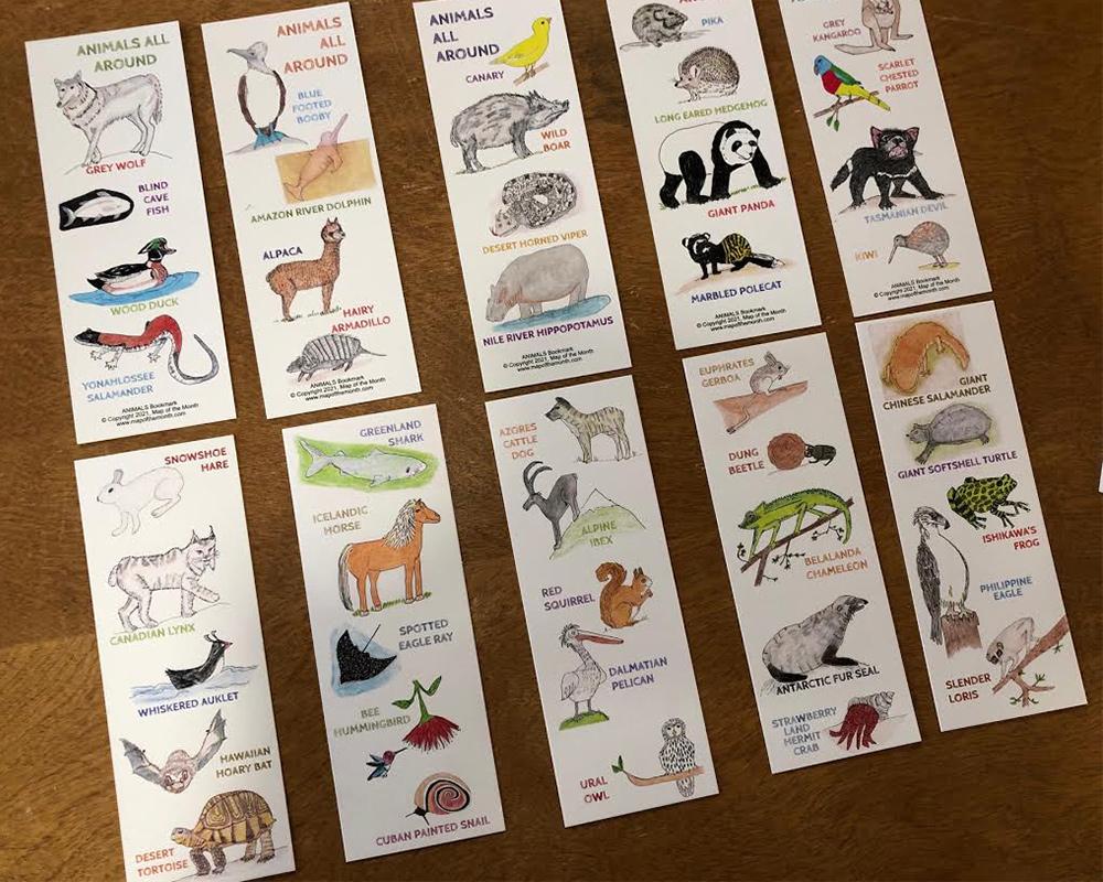 Animals All Around Bookmarks